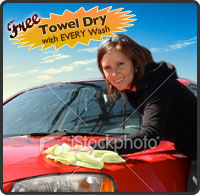 Free Towel Dry with EVERY Wash